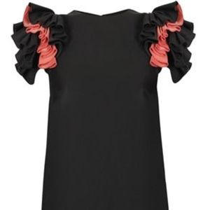French Connection Ruffle Sleeve Dress